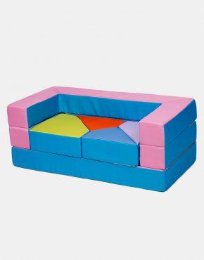 Sofa Eland Puzzle Rosa 4in1