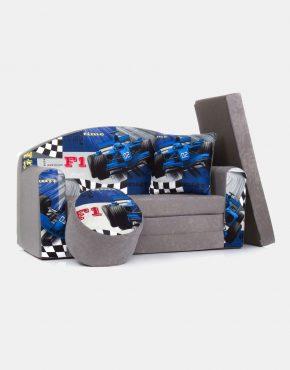 Sofa Eland 3RB Red Bull Grey