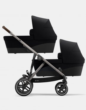 Cybex Gazelle S Duo Deep Black - Taupe Frame 4in1