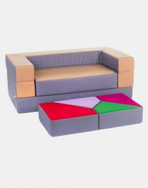 Sofa Eland Puzzle Silber 4in1