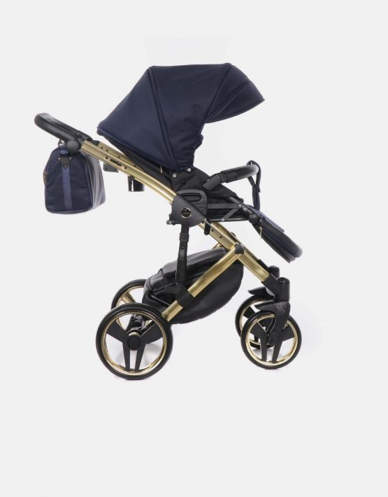 Junama Saphire 01 Dunkelblau Gold 4in1 + Cybex Cloud Z + Base Z