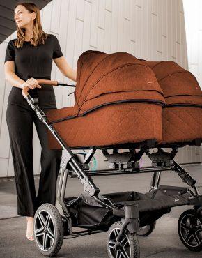Hartan Two Select Kombi Zwillingskinderwagen Dessin 425 – Terra 2in1